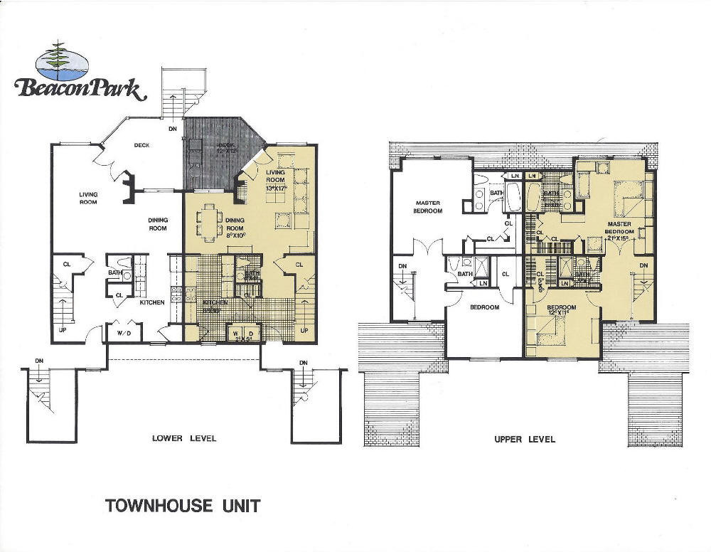 28 townhouse floor plans with garage townhouse for Townhouse plans